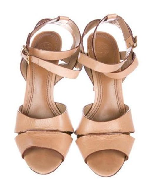 6d3eb95742b5 ... Tory Burch - Brown Leather Multistrap Sandals - Lyst ...