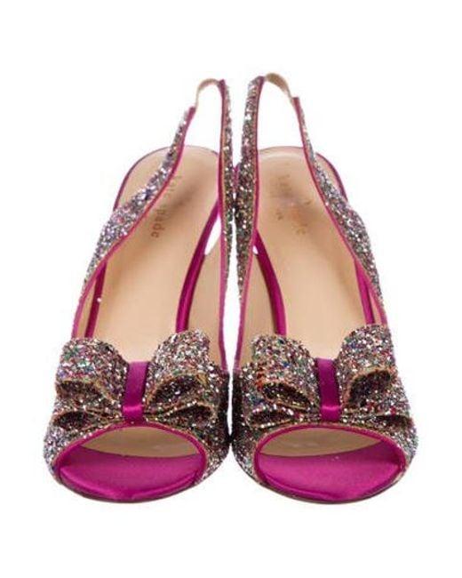 534a9e0d67a ... Kate Spade - Pink Charm Glitter Pumps Magenta - Lyst ...