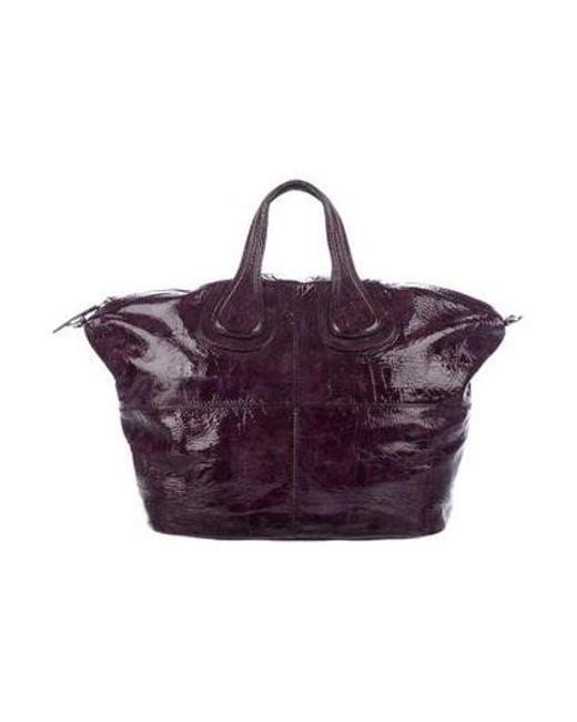 43828ae3f59d Givenchy - Metallic Patent Medium Nightingale Bag Silver - Lyst ...