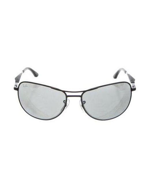 1ba0353a5e Ray-Ban - Black Round Tinted Sunglasses - Lyst ...