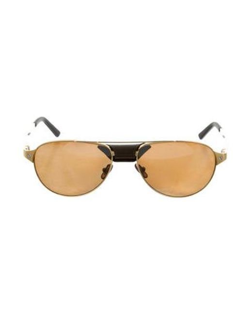 469f73c58e0 Cartier - Metallic Santos Dumont Polarized Sunglasses W  Tags Gold - Lyst  ...