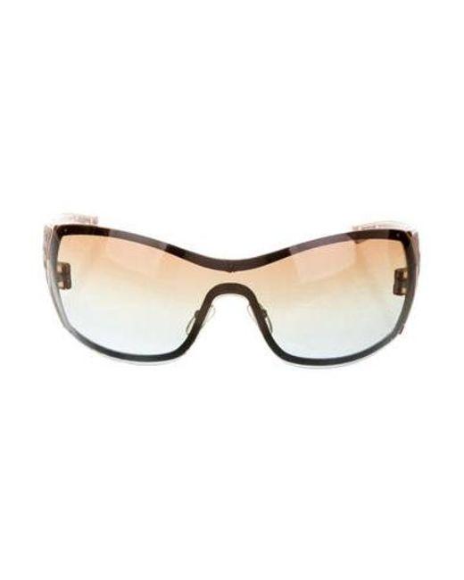 91c963b9fc1 Dior - Brown Quadrille Tinted Sunglasses - Lyst ...