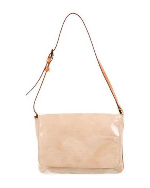 ee7d159f6fd4 Louis Vuitton - Natural Vernis Thompson Street Bag Brass - Lyst ...