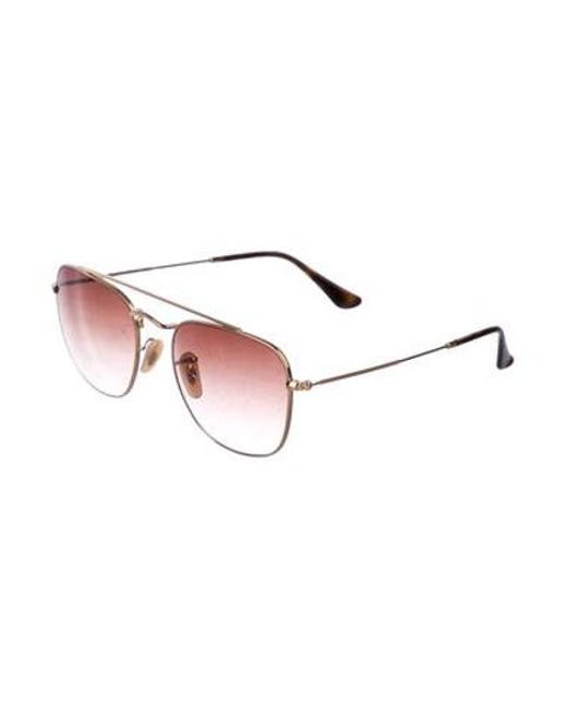 3474819accb ... Ray-Ban - Metallic Gradient Aviator Sunglasses Gold for Men - Lyst ...