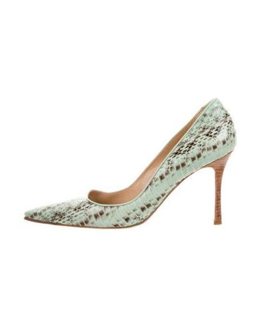 7c2b2eed87b Women's Snakeskin Pointed-toe Pumps Animal Print
