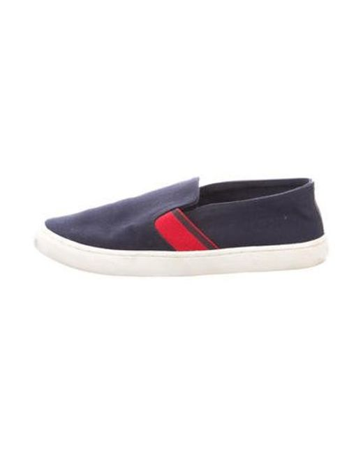Tory Burch - Blue Canvas Slip-on Sneakers Navy - Lyst