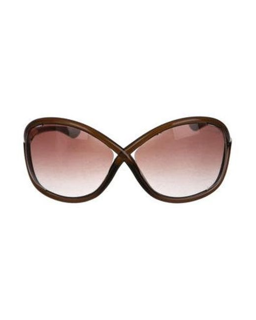 01181296a76 Tom Ford - Metallic Whitney Tinted Sunglasses Brown - Lyst ...