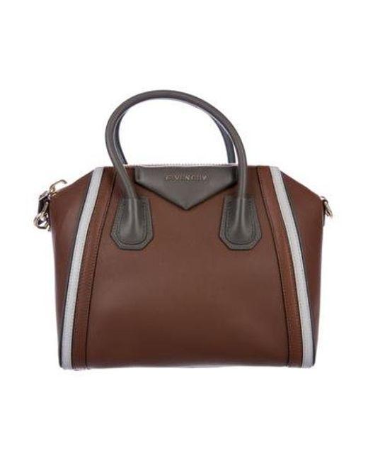 2fac154c95 Givenchy - Metallic Medium Antigona Satchel Brown - Lyst ...