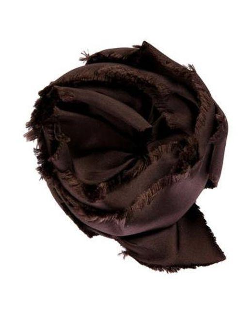 CH by Carolina Herrera - Brown Satin Flower Broach - Lyst