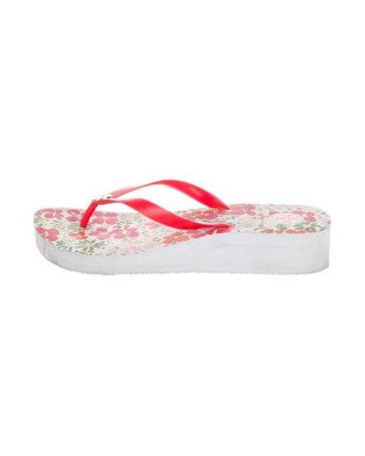 125b2a62020 Tory Burch - Metallic Platform Thong Sandals Pink - Lyst ...
