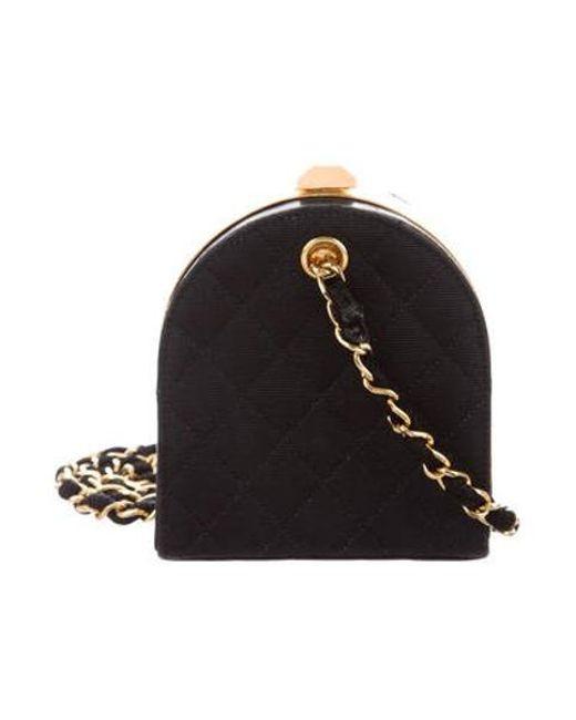 ed50f03d2372 Chanel - Metallic Vintage Quilted Mini Frame Bag Black - Lyst ...