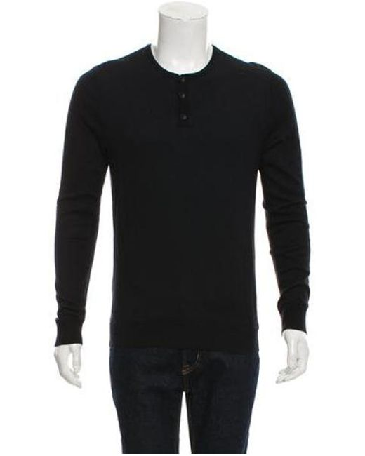 6dd0ab7e360 Rag   Bone - Black Knit Henley Sweater for Men - Lyst ...