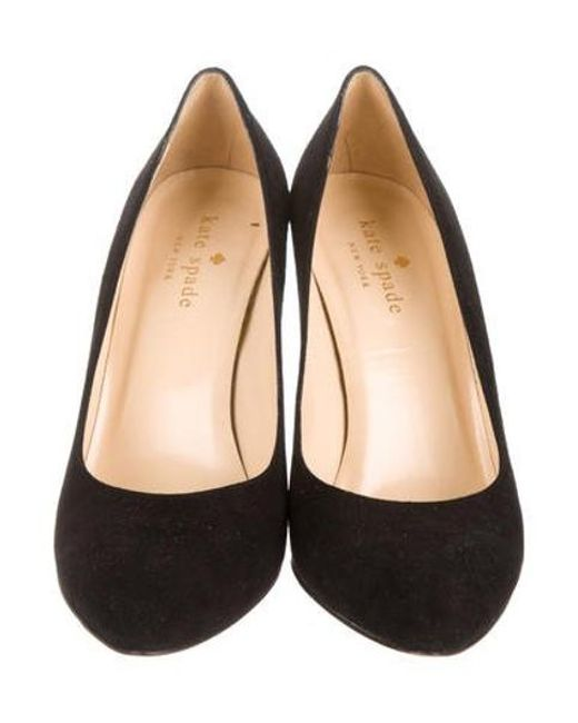 ccfe88cee6ab ... Kate Spade - Black Suede Pointed-toe Pumps - Lyst ...