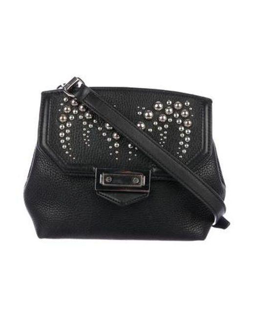 ba3a4a48baea Alexander Wang - Metallic Studded Leather Crossbody Bag Black - Lyst ...