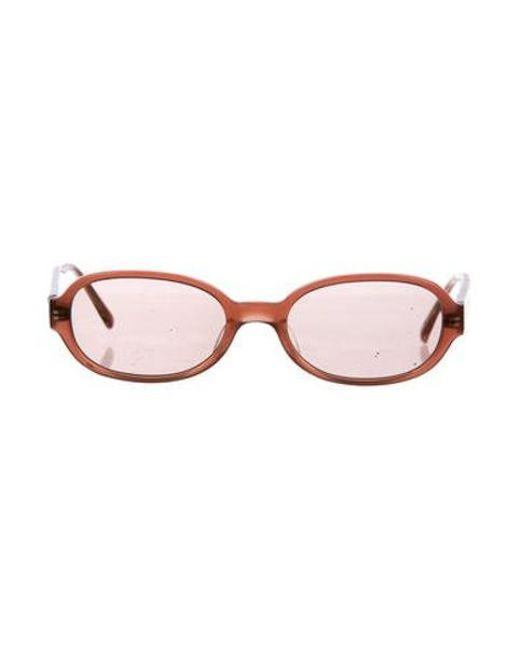 Oliver Peoples - Pink Small Tinted Sunglasses Coral - Lyst