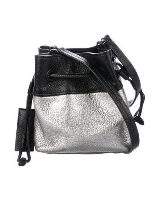 79ded6a76386 Miu Miu - Metallic Miu Leather Mini Crossbody Black - Lyst ...