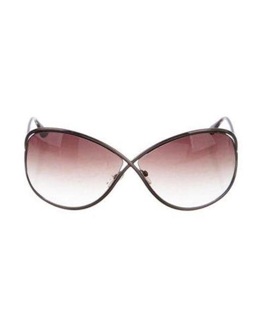 da5016a8076b9 Tom Ford - Metallic Miranda Oversize Sunglasses - Lyst ...