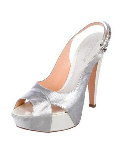 c177bc4dfcd9 ... Sergio Rossi - Metallic Platform Sandals Silver - Lyst ...