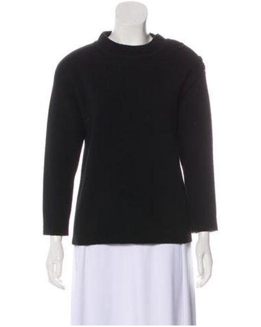 Lyst - Nina Ricci Wool Rib Knit Sweater in Black - Save ... e0b85de93