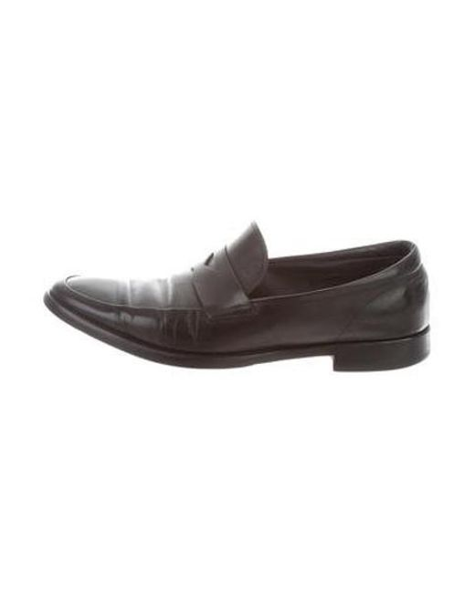 ac3fc5f9318 Tod s - Black Leather Penny Loafers for Men - Lyst ...