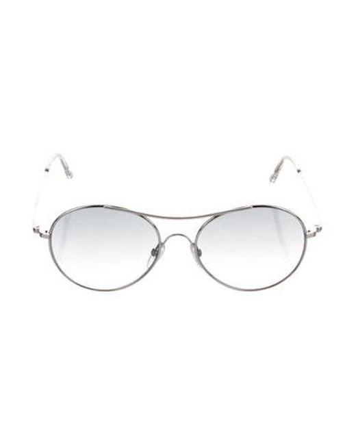 9249aa1419453 Tom Ford - Metallic Claude Aviator Sunglasses Silver - Lyst ...