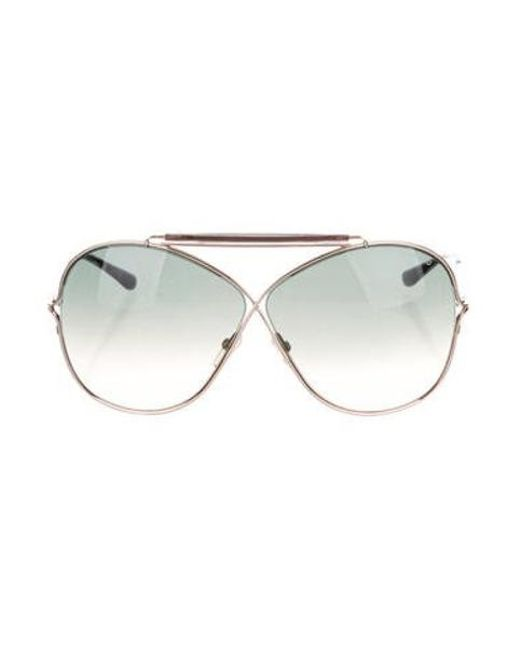 c43327ac7b0d Tom Ford - Metallic Catherine Oversize Sunglasses Silver - Lyst ...