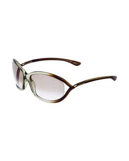 0aedcf3b39 ... Tom Ford - Metallic Jennifer Gradient Sunglasses Brown - Lyst ...