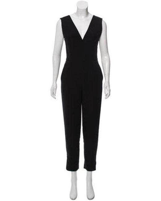 376656e5af Tamara Mellon - Black Sleeveless Straight-leg Jumpsuit - Lyst ...