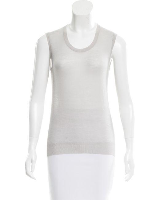 Louis Vuitton | Gray Merino Wool Knit Top Grey | Lyst