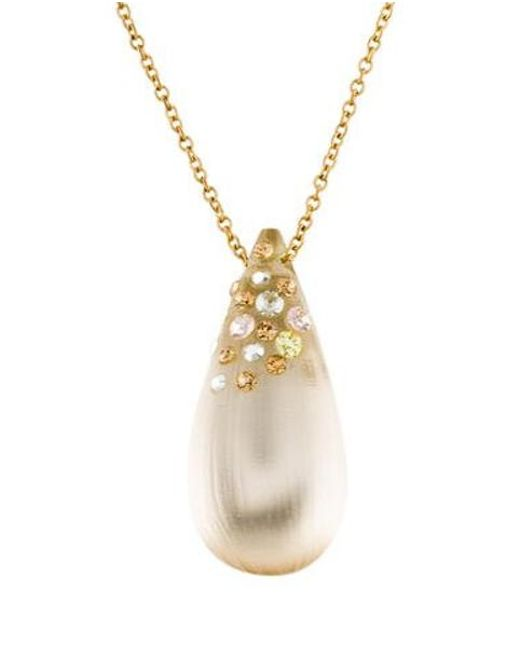 Alexis Bittar - Metallic Lucite & Crystal Dust Pendant Necklace Gold - Lyst