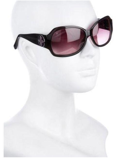 3a382ce5d82 ... Louis Vuitton - Brown Ursula Strass Sunglasses - Lyst