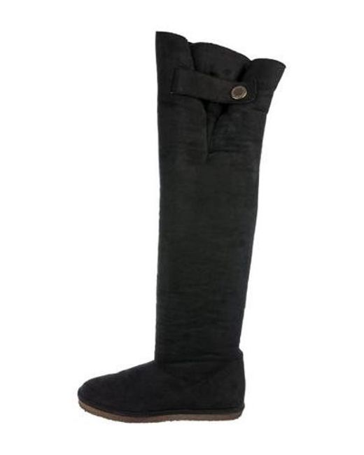 7f2fa4956b9 Stella McCartney - Black Vegan Over-the-knee Boots - Lyst ...