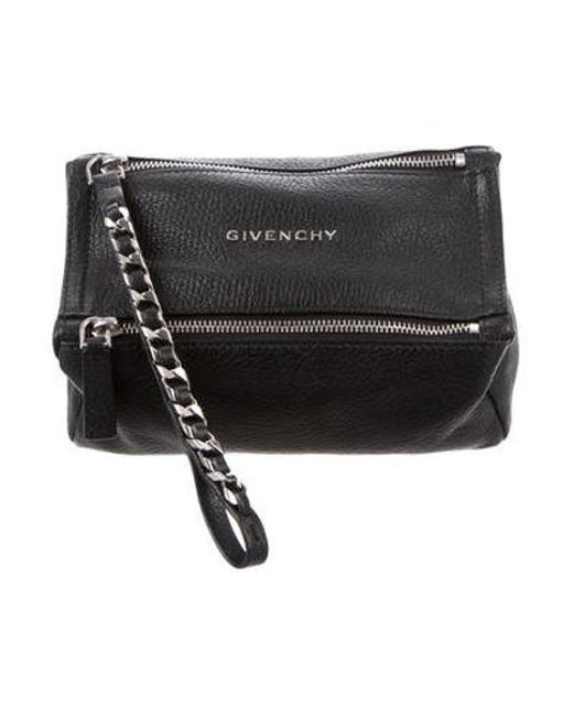 074dcb4e1423 Givenchy - Metallic Pandora Leather Wristlet Black - Lyst ...