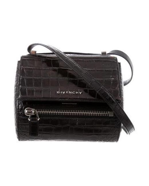 Givenchy - Metallic Mini Pandora Box Bag Black - Lyst ... 0bce91f05b02a