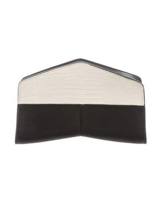 Narciso Rodriguez - Black Embossed Leather Clutch - Lyst