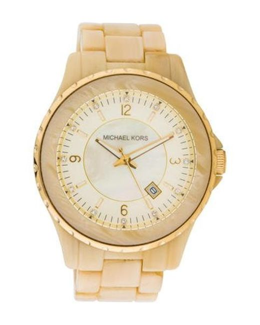 b7abfde4b9bc Michael Kors - Metallic Classic Watch - Lyst ...