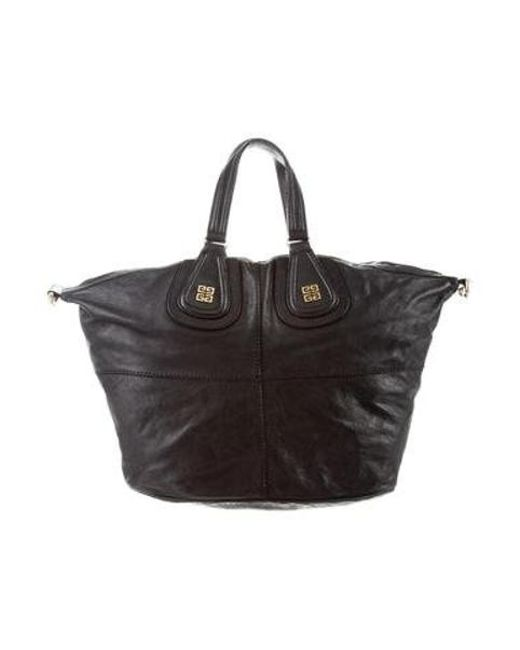 Givenchy - Metallic Leather Nightingale Bag Black - Lyst ... 82756387ae88d