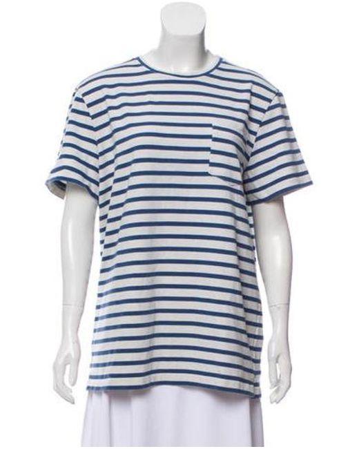 8e2f03b6f2a2 A.P.C. - White Short Sleeve Striped T-shirt - Lyst ...