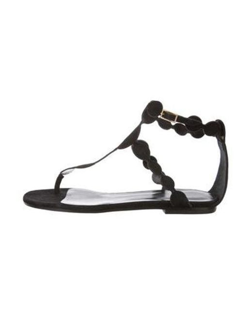 1d9ba3b19cdcad Pierre Hardy - Black Suede Thong Sandals - Lyst ...