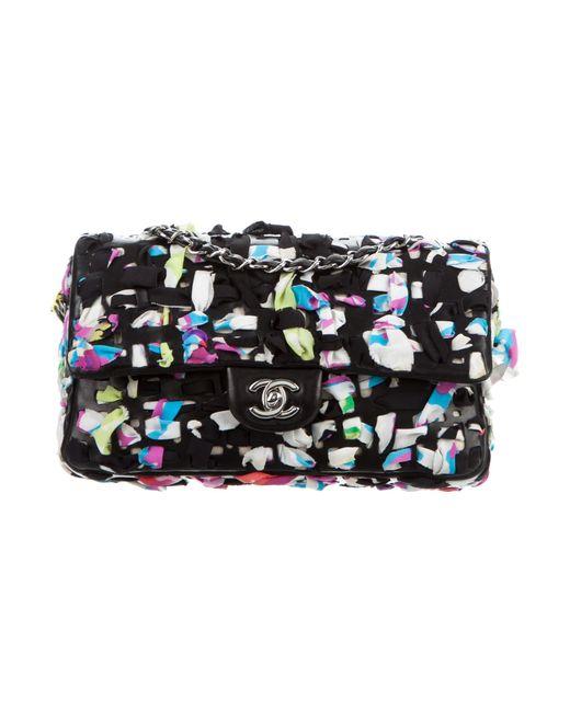 Chanel | Metallic Scarf Flap Bag Black | Lyst