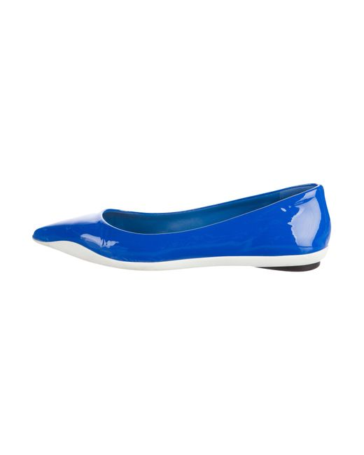 Dior | White Patent Leather Ballet Flats | Lyst