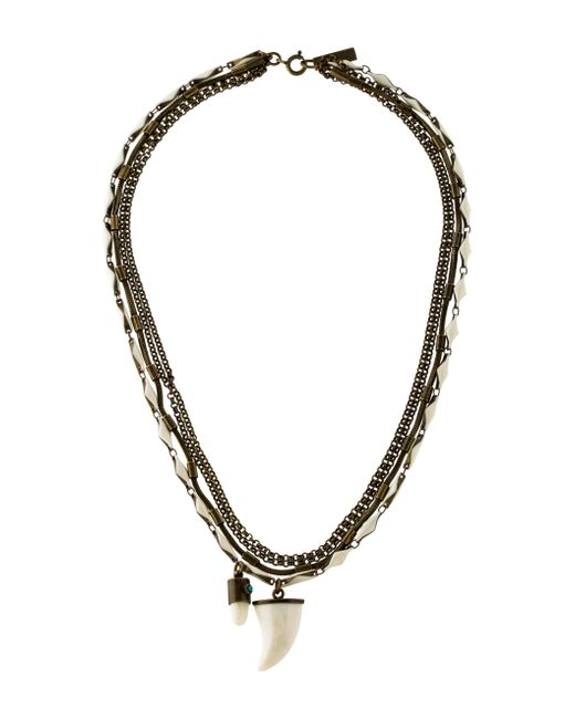 Isabel Marant | Metallic Formentara Horn Necklace Brass | Lyst