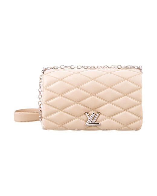 Louis Vuitton   Metallic 2015 Go-14 Malletage Mm Tan   Lyst