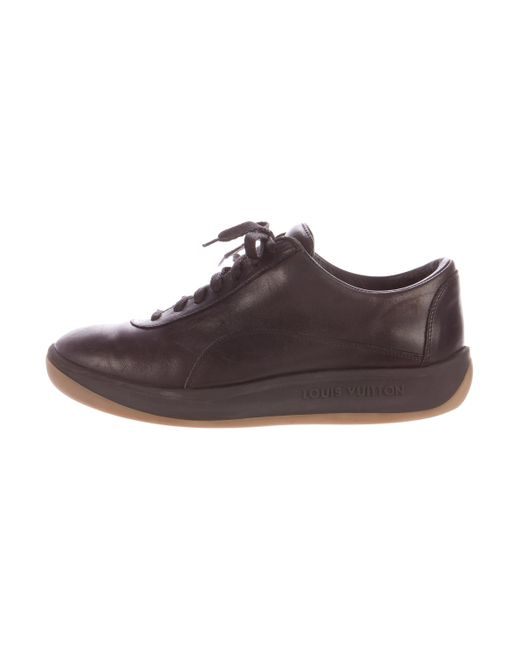Louis Vuitton | Brown Leather Low-top Sneakers | Lyst