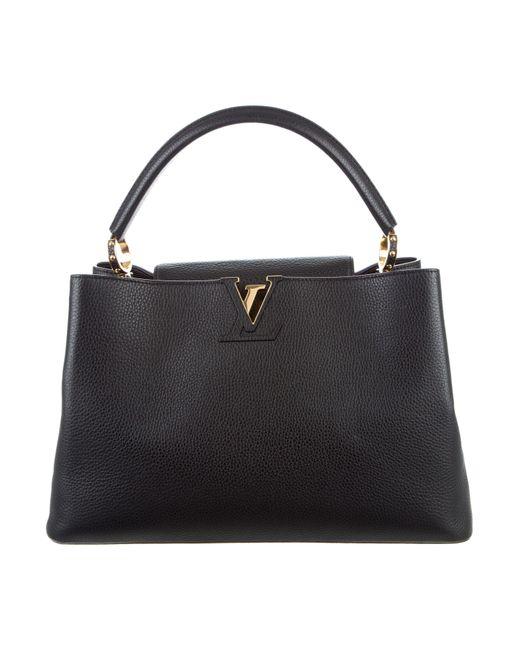 Louis Vuitton | Black Taurillon Capucines Gm Noir | Lyst