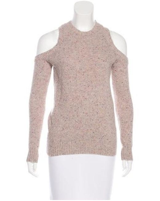 Rebecca Minkoff - Pink Merino Wool-blend Knit Sweater - Lyst