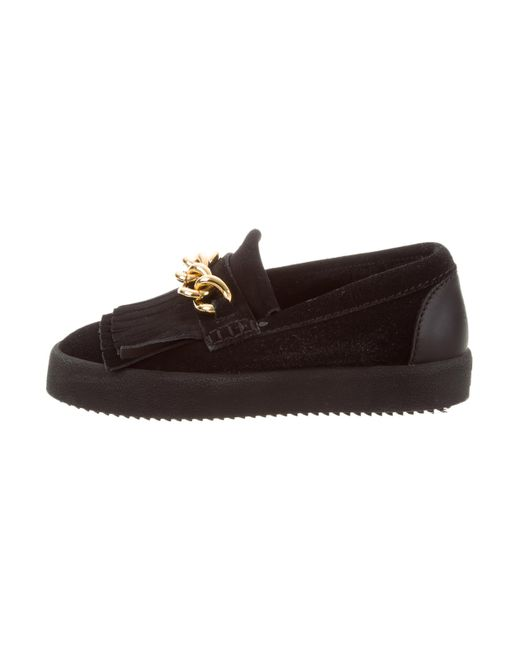 Giuseppe Zanotti Suede Chain-Link Loafers sale get to buy cmzOS
