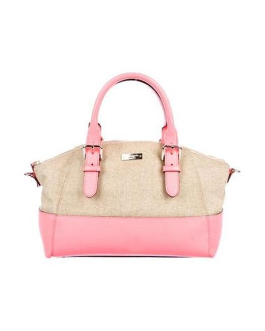 Kate Spade - Metallic Charlotte Street Fabric Small Sloan Satchel Natural -  Lyst ... fb3138ad3e650