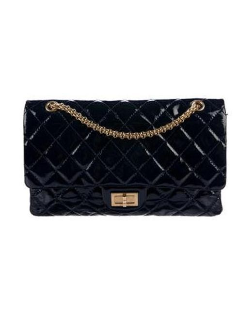 ac0c5a2107e3ce Chanel - Metallic Reissue 227 Double Flap Bag Gold - Lyst ...