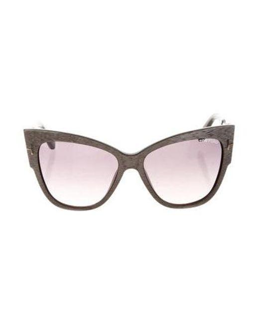 231e9f42851 Tom Ford - Metallic Anoushka Cat-eye Sunglasses Gold - Lyst ...